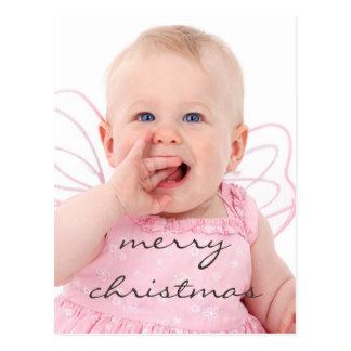 Felices Navidad de la foto elegante hermosa del Postal