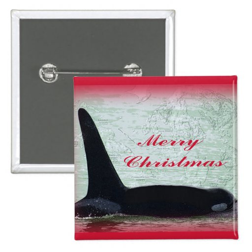 Felices Navidad de la isla de San Juan de la orca  Pin