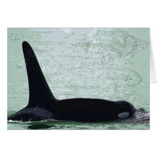 Felices Navidad de la isla de San Juan de la orca  Tarjeta De Felicitación