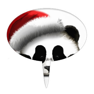 Felices Navidad de la panda Figuras Para Tartas