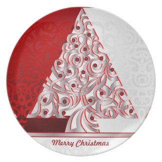 Felices Navidad de la placa Plato