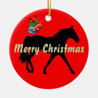 Felices Navidad de la silueta de Missouri Foxtrott Ornamentos De Navidad
