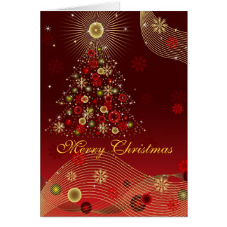 Felices Navidad de la tarjeta de felicitación