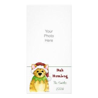 Felices Navidad de la tarjeta de la foto del embau Tarjeta Con Foto Personalizada