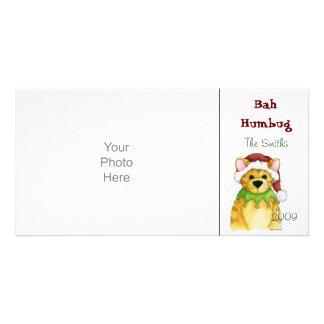 Felices Navidad de la tarjeta de la foto del embau Tarjeta Fotográfica