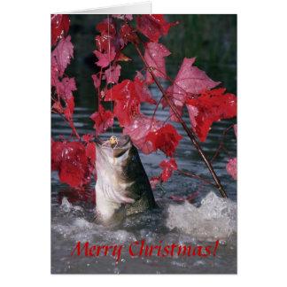 ¡Felices Navidad de la tarjeta de la perca america