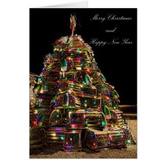 Felices Navidad de la tarjeta de Maine