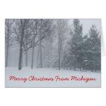 Felices Navidad de la tarjeta de Navidad de Michig