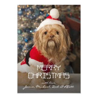 """Felices Navidad de las patas de Santa Invitación 5"""" X 7"""""""