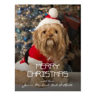 Felices Navidad de las patas de Santa Tarjeta Postal