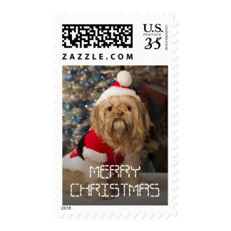 Felices Navidad de las patas de Santa Timbre Postal