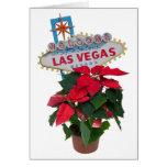 Felices Navidad de Las Vegas con la tarjeta de los