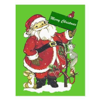 Felices Navidad de los animales lindos de Papá Postales