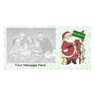 Felices Navidad de los animales lindos de Santa Tarjetas Con Fotos Personalizadas