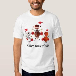 Felices Navidad de los deportes Playera