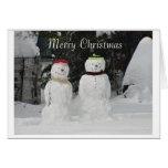 Felices Navidad de los muñecos de nieve Tarjeta