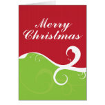 Felices Navidad de los remolinos elegantes Tarjetas