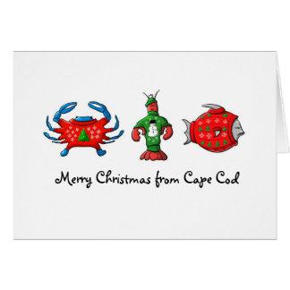 Felices Navidad de los suéteres pegajosos de Cape