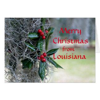 Felices Navidad de Luisiana Tarjeta De Felicitación
