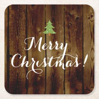 Felices Navidad de madera del vintage del país