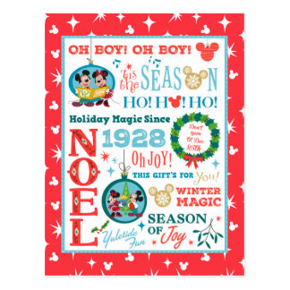 Felices Navidad de Mickey el | Tarjetas Postales