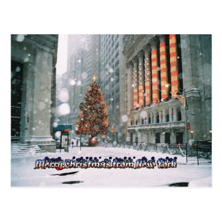 Felices Navidad de Nueva York Tarjeta Postal