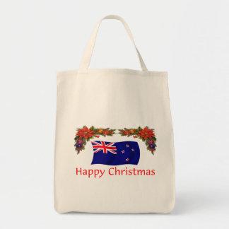 Felices Navidad de Nueva Zelanda Bolsa Tela Para La Compra