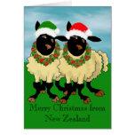 Felices Navidad de Nueva Zelanda Tarjeton