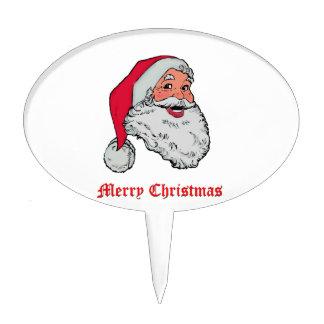 Felices Navidad de Papá Noel Figura Para Tarta