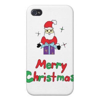 Felices Navidad de Papá Noel iPhone 4 Cárcasas