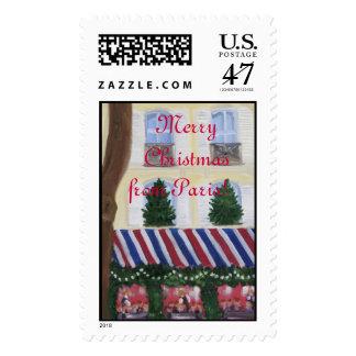 Felices Navidad de París Timbres Postales