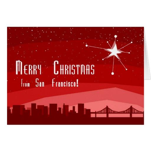 Felices Navidad de San Francsico Tarjeta