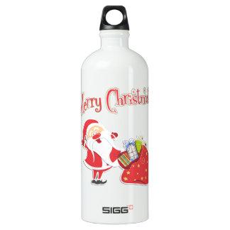 Felices Navidad de Santa Botella De Agua
