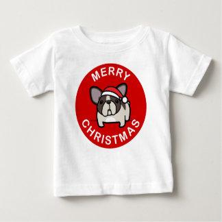 Felices Navidad de Santa de varios colores Brindle T Shirt