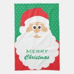 Felices Navidad de Santa del dibujo animado lindo Toalla De Mano