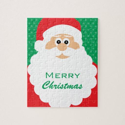 Felices Navidad de Santa del dibujo animado lindo Puzzles Con Fotos