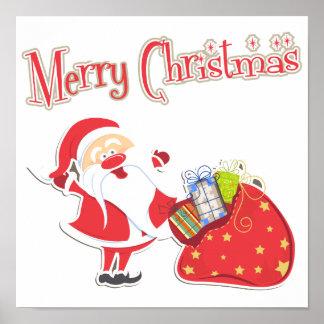 Felices Navidad de Santa Posters