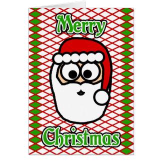 Felices Navidad de Santa Tarjeta De Felicitación