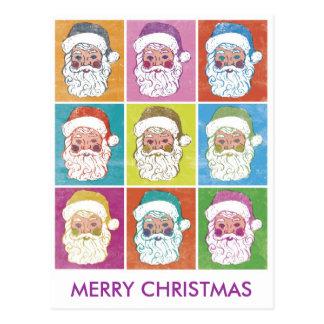 FELICES NAVIDAD de Santas del ARTE POP Tarjetas Postales