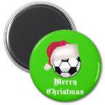 Felices Navidad de SoccerChick Imán Para Frigorífico