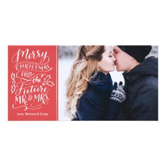 Felices Navidad de Sr. y de la señora futuros Tarjetas Fotograficas Personalizadas