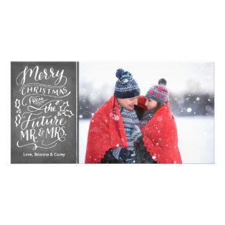 Felices Navidad de Sr. y de la señora futuros Tarjetas Personales Con Fotos