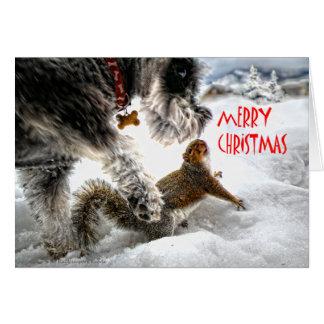 Felices Navidad de Toni y de Lena Tarjeta De Felicitación