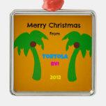 Felices Navidad de Tortola BVI 2012 Ornamento De Navidad