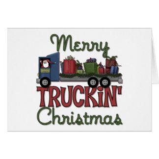 Felices Navidad de Truckin Tarjeta De Felicitación