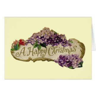 Felices Navidad de un vintage Tarjeta