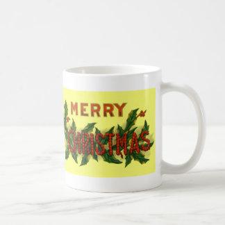 Felices Navidad del acebo Taza Clásica
