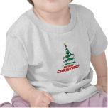 Felices Navidad del árbol de navidad Camisetas