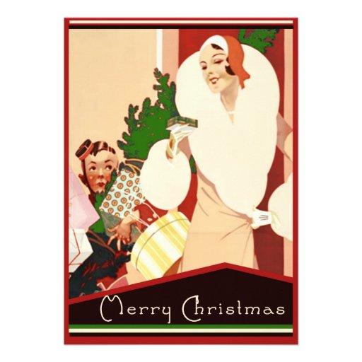 Felices Navidad del art déco fabuloso Comunicados Personales