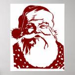 Felices Navidad del arte pop de Santa rojas Impresiones